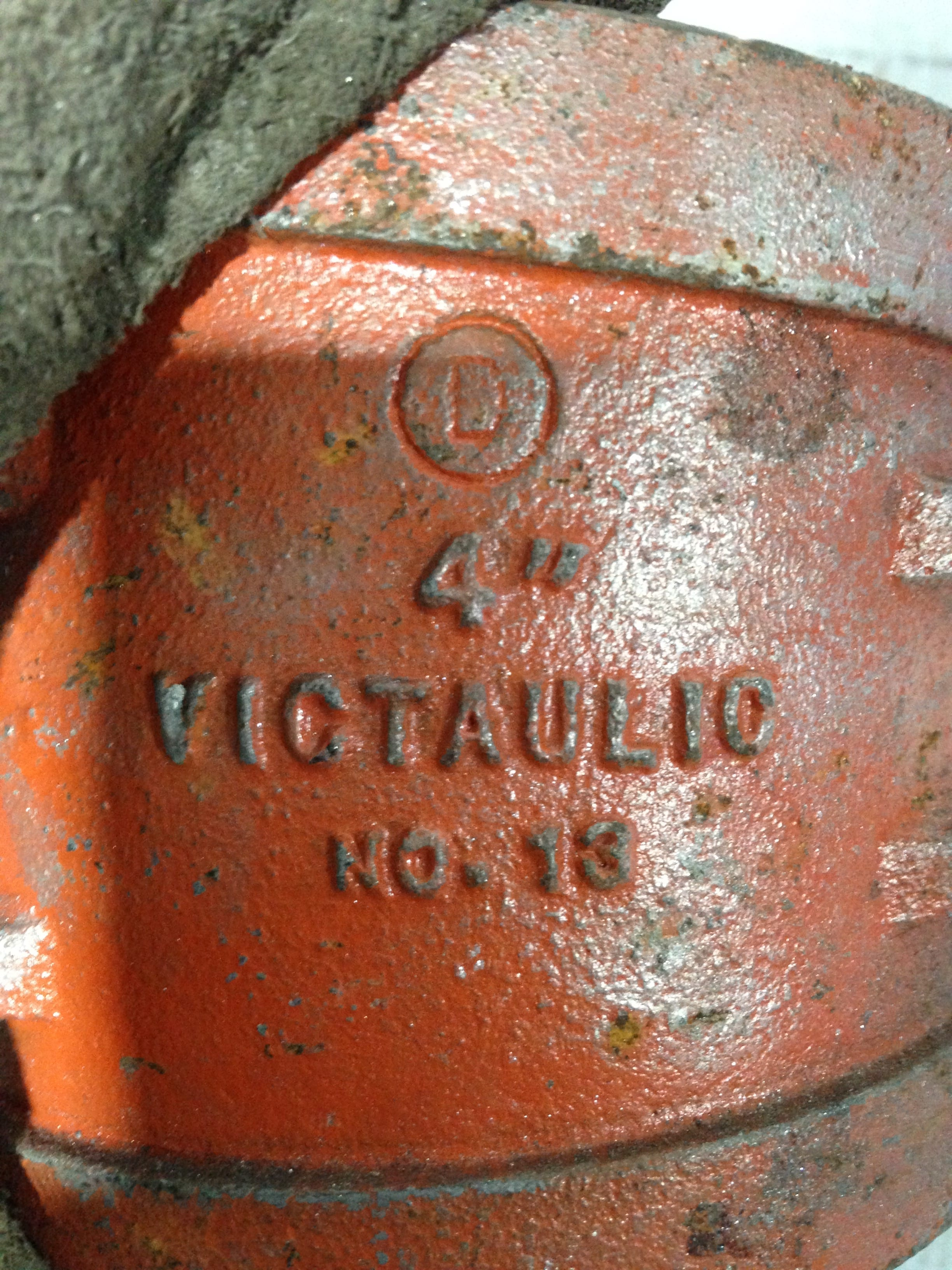Victaulic No  13 11-1/4° 4″ Painted Elbow Pipe Fitting