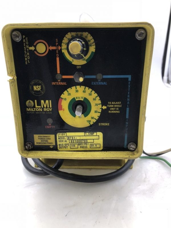 Amazing Lmi Milton Roy B731 75S Electromagnet Dosing Pump 108Gpd 50Psi Wiring Digital Resources Bioskbiperorg