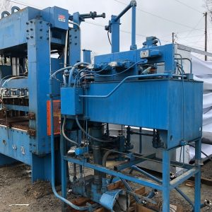 Used-150-Ton-4-Post-Hydraulic-Press-and-Power-Unit-142773958140
