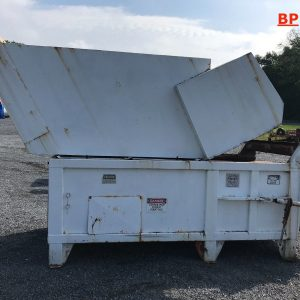 Horizontal-TrashPaper-Compacter-with-24-Roll-off-Enclosed-Dumpster-142933827391