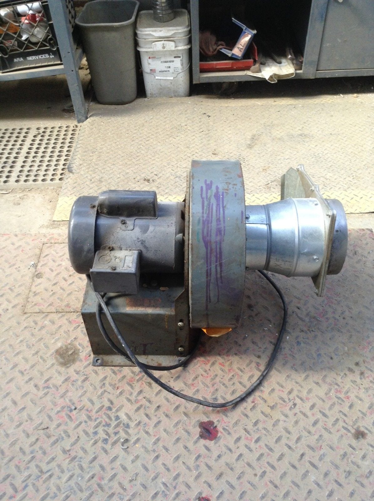 Radial Blade Blowers : Dayton quot c direct drive radial blade blower