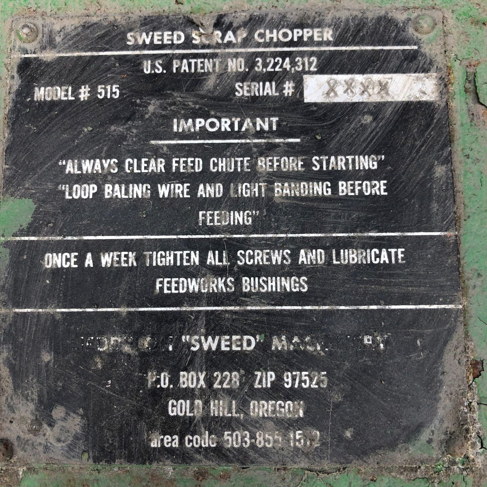 Sweed Chopper Parts Wire : Used sweed heavy duty banding wire scrap chopper