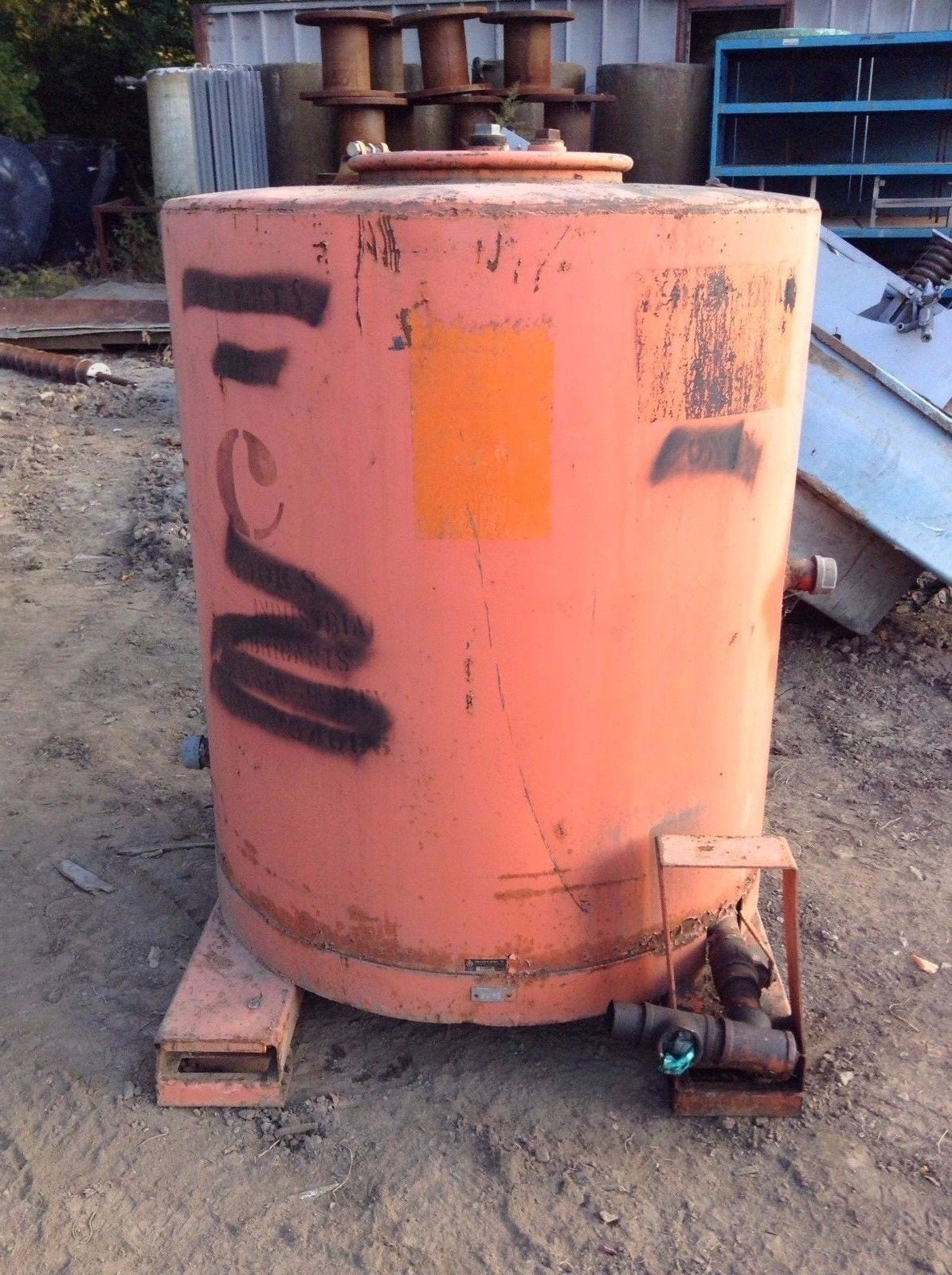 338 Gallon Waste Oil Steel Drum Storage Tank Container Moses B