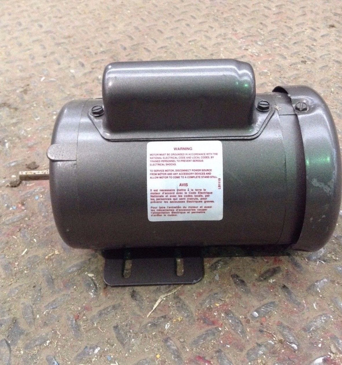 Baldor l3351 single phase electric motor 115 208 for Electric motor shaft repair
