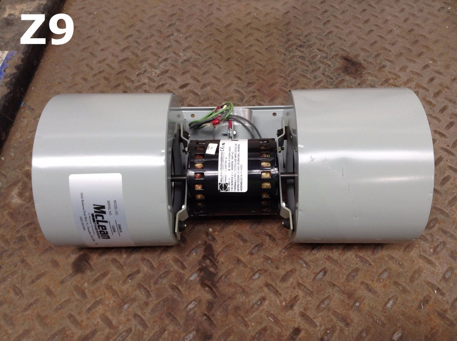 Pentair mclean jf1h025n air conditioner 2nb416 dual blower for Dc motor air conditioner