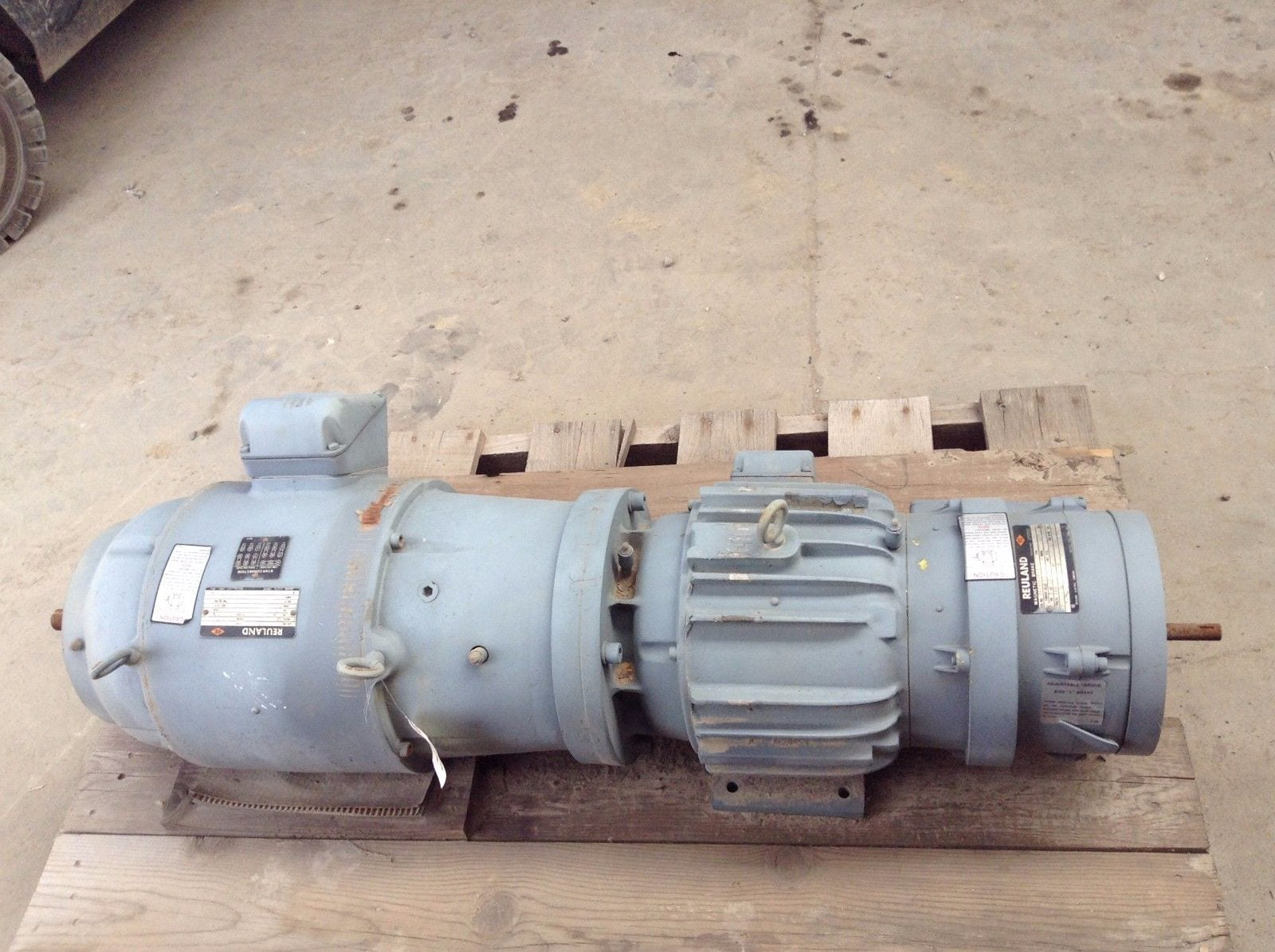 Reuland multi drive motor brake 230 460v 3ph 3hp 3 4hp for Add electric motor to drive shaft