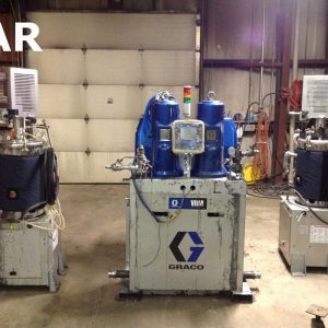 Graco-VRM-Variable-Ratio-Metering-System-66GPM-2000PSI-1631-w-2-Tank-Stands-142458153505