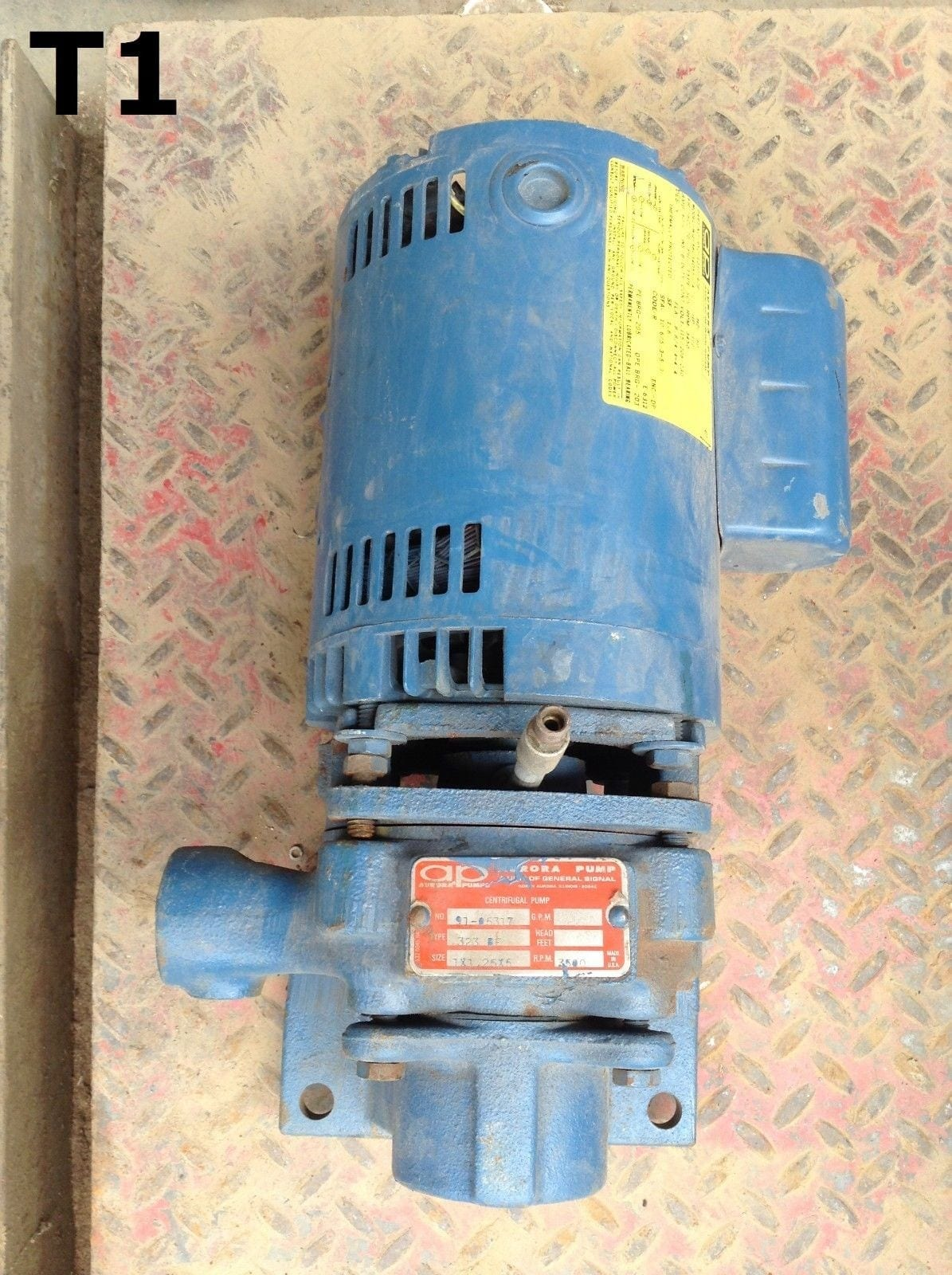 Aurora Pump Type 323-F 1/2HP 1