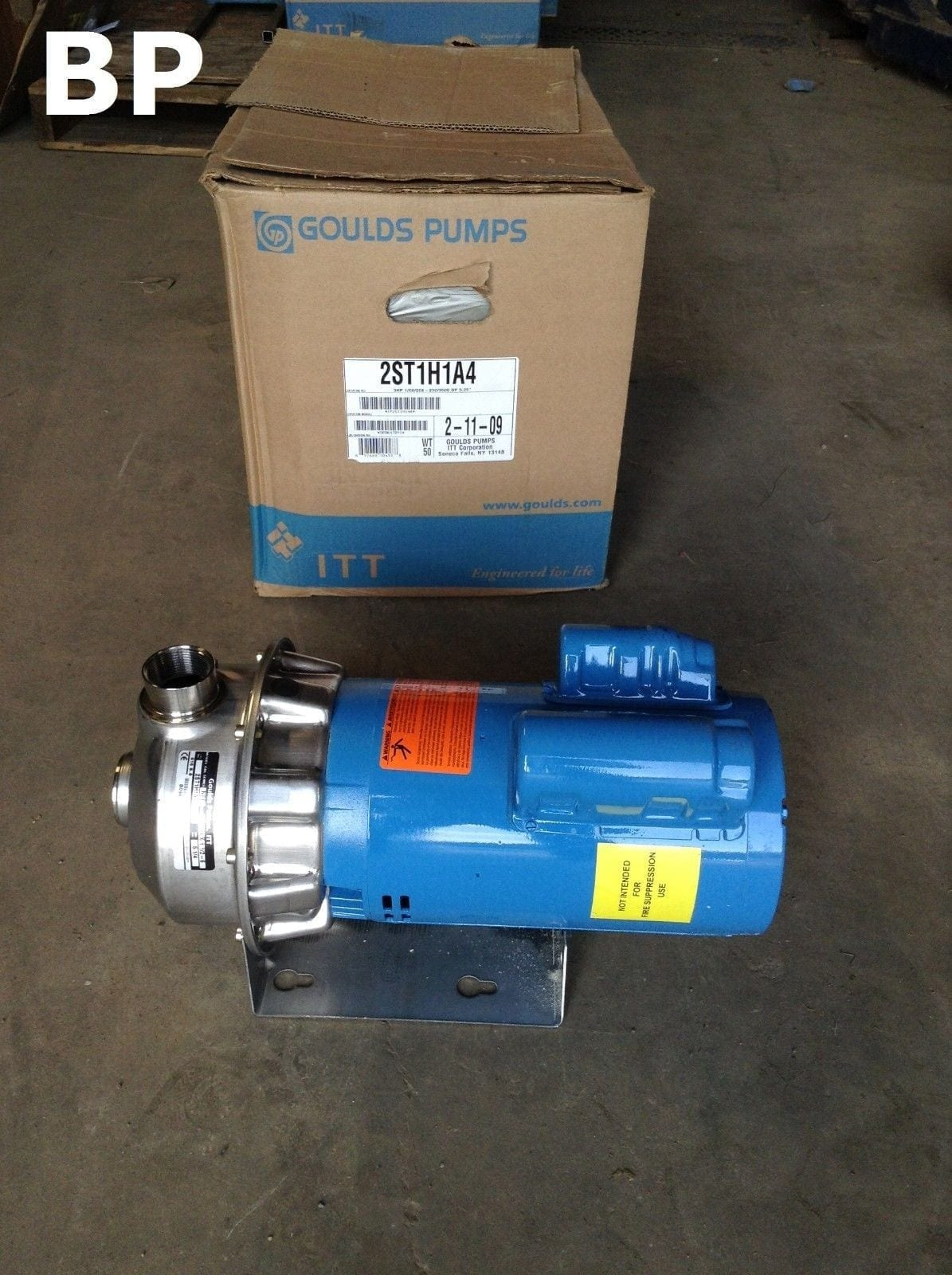 Goulds Pumps 2st1h1a4 Stainless Steel Centrifugal Pump 1ph
