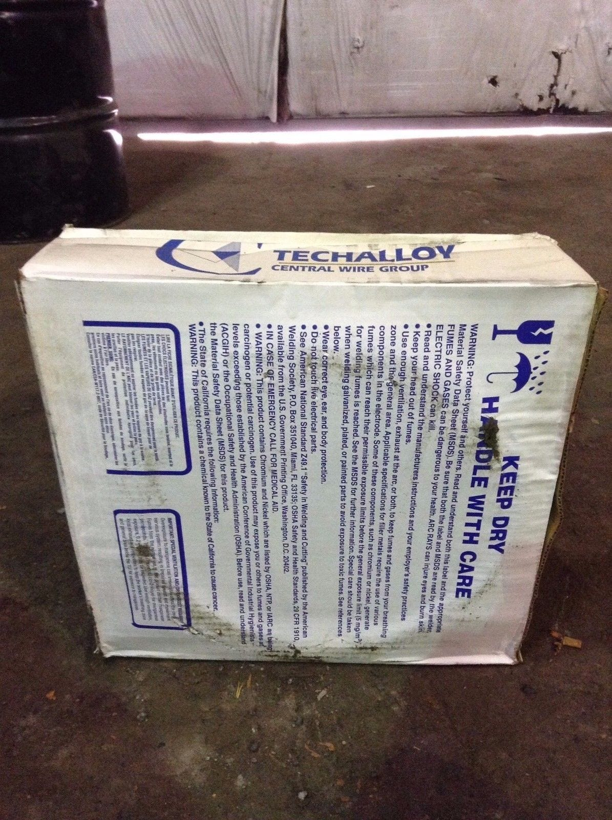 Techalloy ER308L 308L Stainless Steel Welding Wire 3/16\