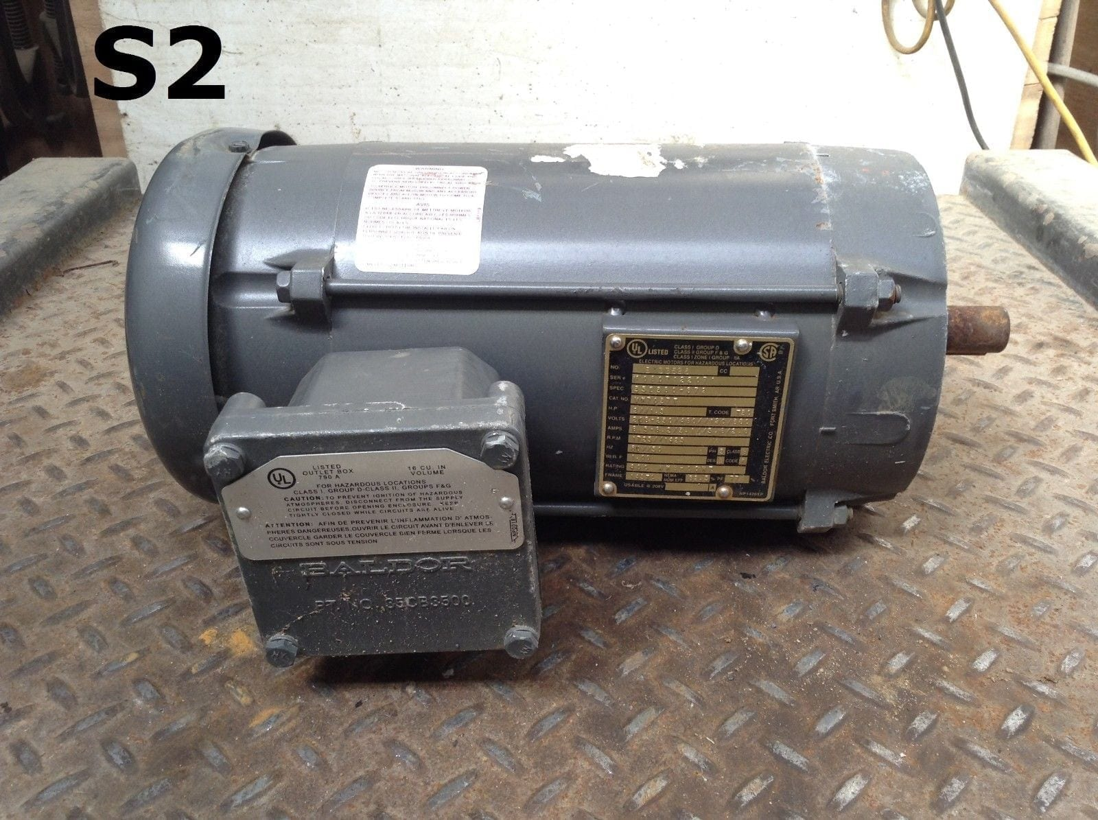 Baldor Vh7037t Explosion Proof 2 15hp Electric Motor 1725 1425rpm Motors