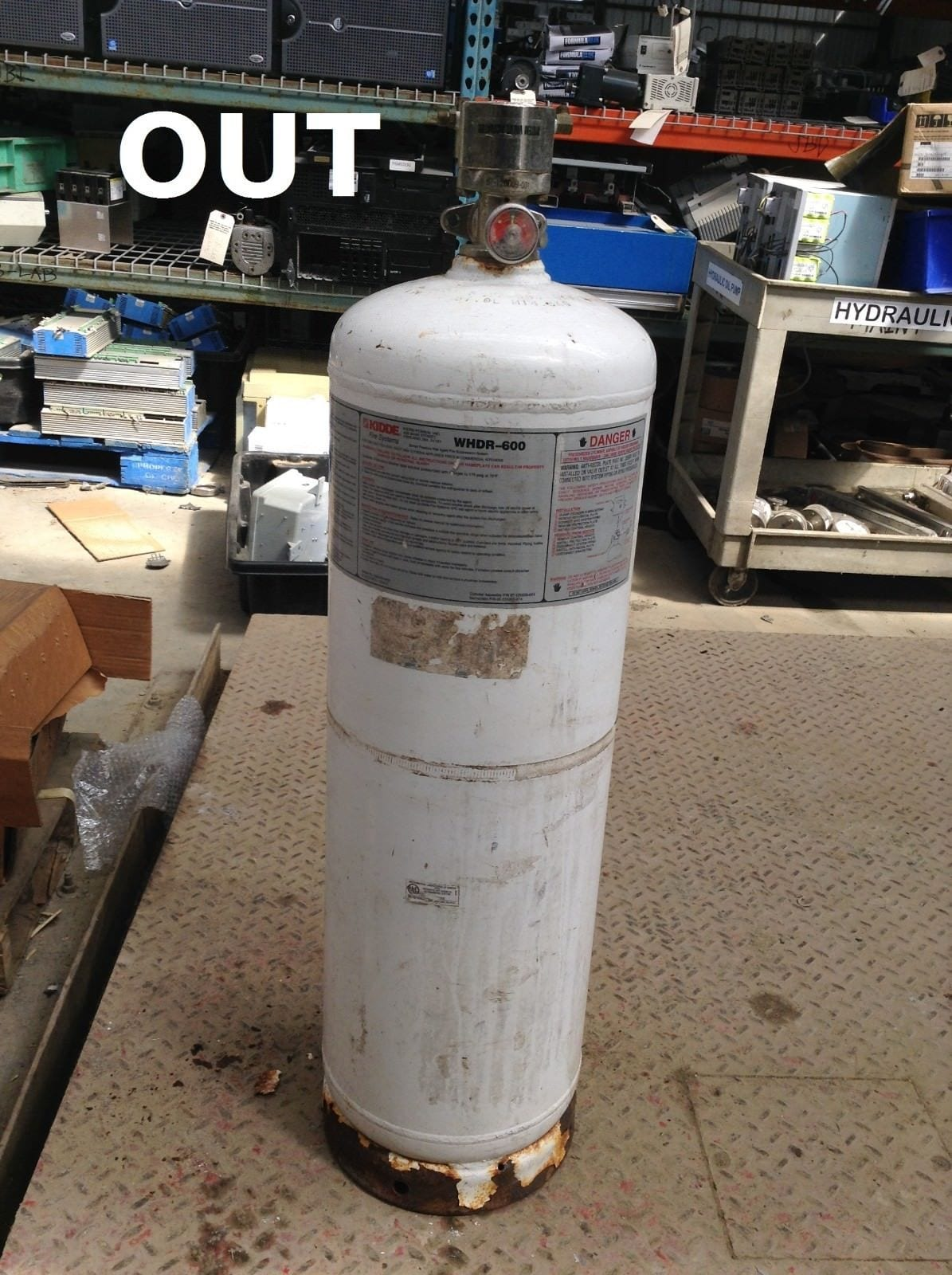 Kidde WHDR-600 6 Gallon Wet Chemical Kitchen Cylinder/Fire Extinguisher Tank